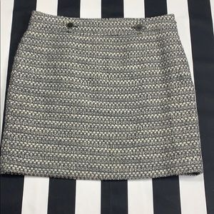 PRICE REDUCED! LOFT tweed skirt with button detail